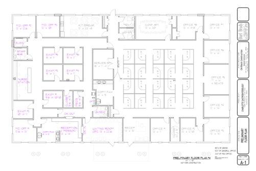 Fisher harriss and octavian development office for Office floor plan samples
